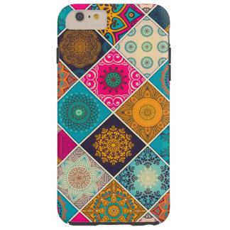 Patchwork de Bohème coloré de mandala Coque Tough iPhone 6 Plus