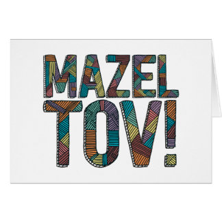 Patchwork de Mazel Tov multi Carte De Vœux