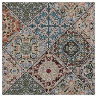 Patchwork de tissu carré de motif
