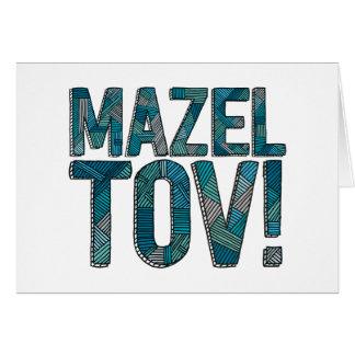 Patchwork Teal de Mazel Tov Carte De Vœux