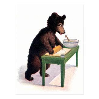 Pâte de Rolls d'ours de nounours pour des biscuits Cartes Postales