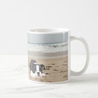 Pâtés de sable de tasse de Boston Terrier