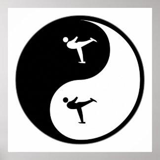 Patinage artistique de Yin Yang Poster
