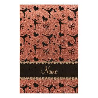 Patinage artistique moderne et à la mode de rose impression sur papier de liège