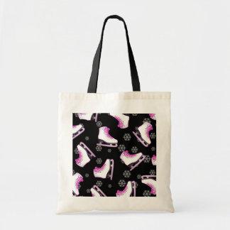 Patinage artistique - patins de glace noir et rose sac