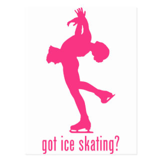 Patinage de glace cartes postales