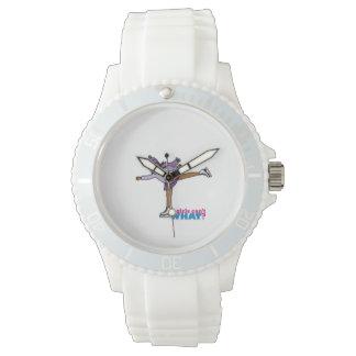 Patinage de glace - pourpre montres bracelet