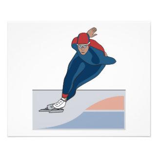 patineur de vitesse prospectus 11,4 cm x 14,2 cm