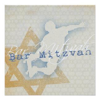 Patineur urbain - invitation de Mitzvah de barre