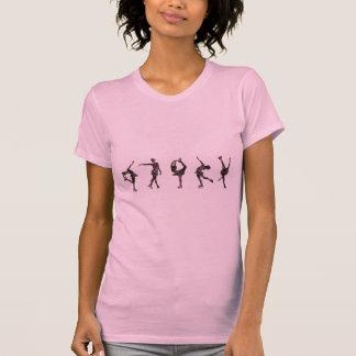 Patineurs artistiques, rose, motif gris t-shirt
