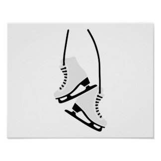 Patins de patinage artistique poster