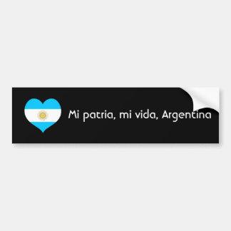 Patria de MI, vida de MI, Argentine Autocollant De Voiture