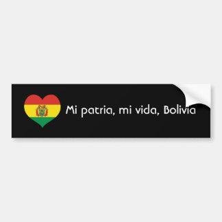 Patria de MI, vida de MI, Bolivie Autocollant De Voiture