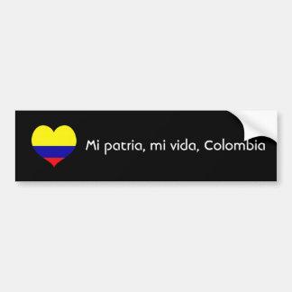 Patria de MI, vida de MI, Colombie Autocollant De Voiture