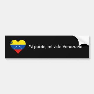 Patria de MI, vida Venezuela de MI Autocollant De Voiture