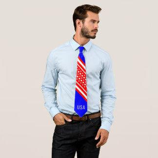 Patriote blanc rouge américain fier des Etats-Unis Cravate