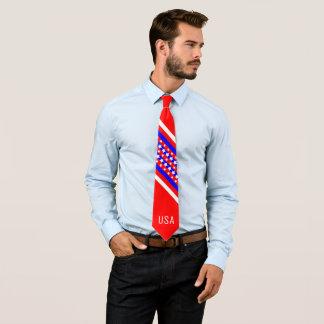 Patriote blanc rouge américain fier des Etats-Unis Cravates