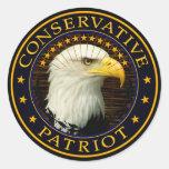 Patriote conservateur autocollant rond