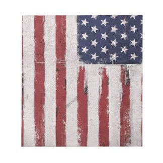 Patriote de cru de drapeau américain bloc-note