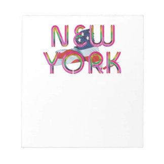 Patriote de New York de PIÈCE EN T Bloc-note