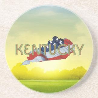 Patriote du Kentucky de PIÈCE EN T Dessous De Verres