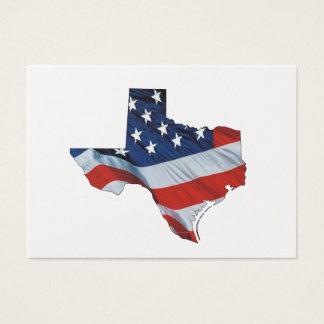 Patriote du Texas de PIÈCE EN T Cartes De Visite