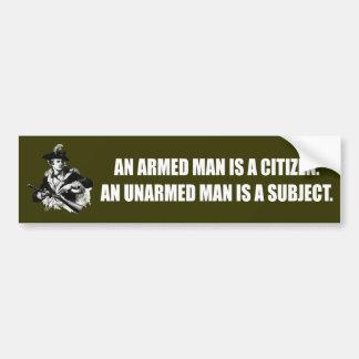 Patriote - homme sans armes autocollants pour voiture