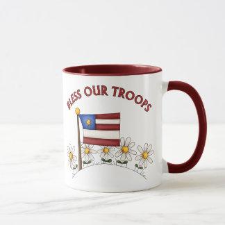Patriotique bénissez nos troupes mugs