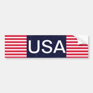 Patriotique blanc des Etats-Unis et bleu rouge 4 Autocollant De Voiture