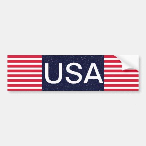Patriotique blanc des Etats-Unis et bleu rouge 4 Adhésifs Pour Voiture