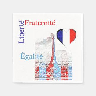 Patriotique français serviettes en papier