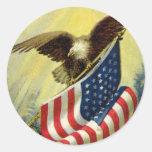 Patriotisme vintage, drapeau américain patriotique autocollant