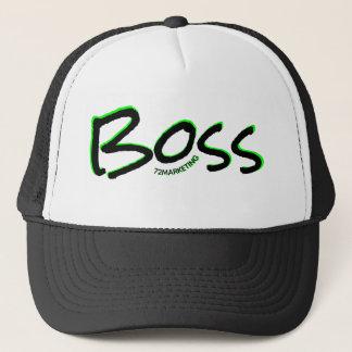 patron de casquette de camionneur du logo