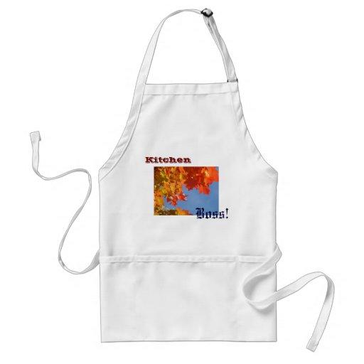 Patron de cuisine ! feuille d'automne de tabliers