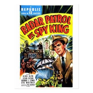 Patrouille de radar contre le roi d'espion carte postale
