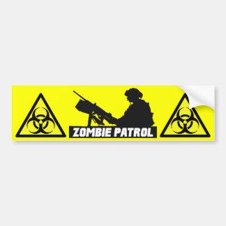 Patrouille de zombi - sur l'adhésif pour pare-choc autocollant de voiture