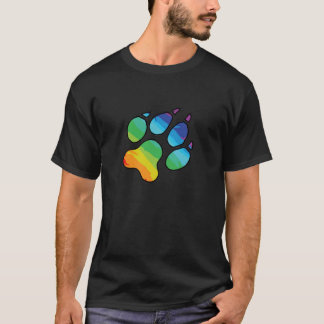 Patte d'arc-en-ciel t-shirt
