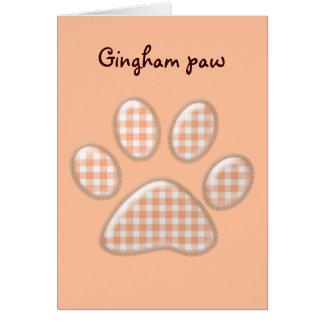 patte de chat de guingan - orange carte de vœux