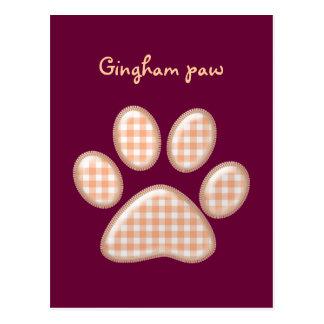 patte de chat de guingan - orange cartes postales