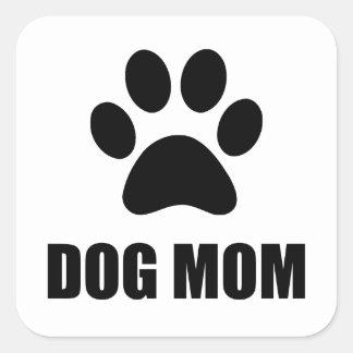 Patte de maman de chien sticker carré