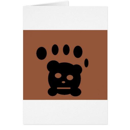 patte d'ours carte de vœux