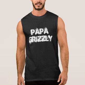 Patte d'ours gris de papa t-shirts sans manches