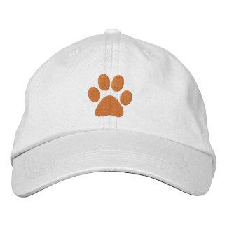 Patte orange casquette brodée