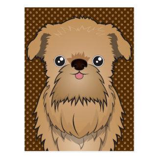 Pattes de bande dessinée de chien de griffon de carte postale
