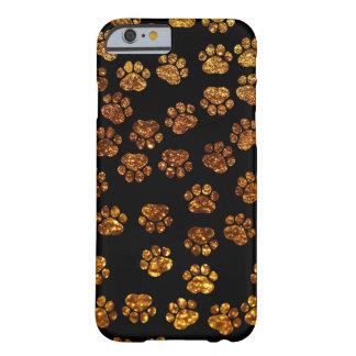 Pattes de chien, traces, empreintes de pattes, coque iPhone 6 barely there