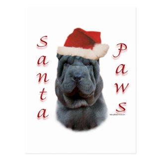 Pattes de Shar-Pei Père Noël de Chinois Cartes Postales