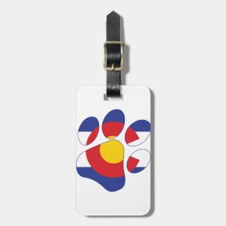 Pattes du Colorado Étiquette À Bagage