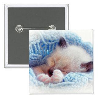 Pattes siamoises de chaton de sommeil badges