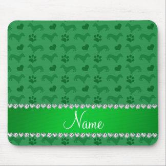 Pattes vertes nommées faites sur commande de tapis de souris