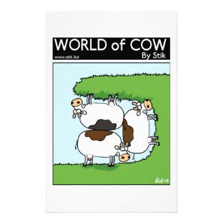 Pâturage de 3 vaches papier à lettre personnalisé